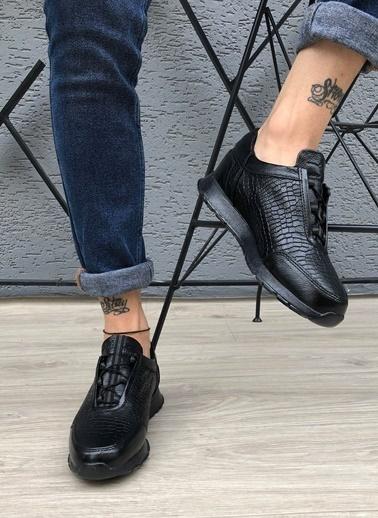 MARTINETTO Hakiki Deri Sneaker Siyah